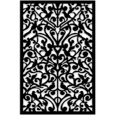 decor home depot acurio latticeworks 1 4 in x 32 in x 4 ft black ginger