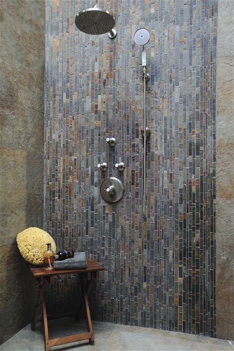 new slate bathroom slate shower contemporary bathroom new york by akdo