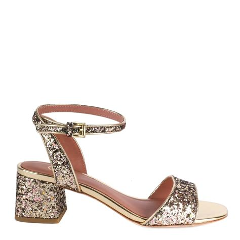 gold sparkly sandals shop opium sandals from ash footwear in gold glitter