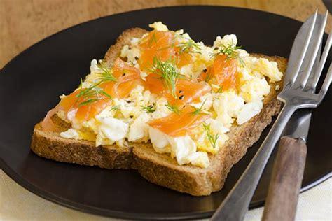 protein in salmon protein salmon and eggs toast breakfast