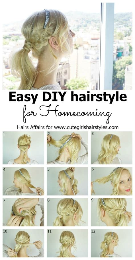 Easy Hairstyles For Homecoming by Easy Diy Homecoming Hairstyle Hairstyles