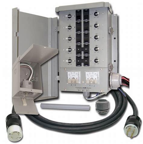 Switch Genset connecticut egs107501g2kit 10 circuit generator manual transfer switch kit ebay