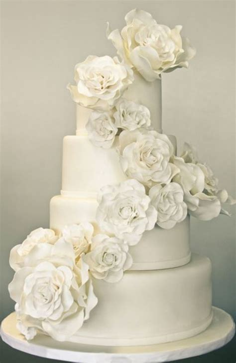 All Wedding Cakes by A Sweet Soiree All White Wedding Cakes