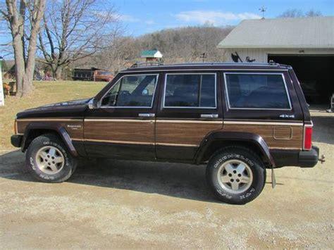 1989 jeep wagoneer limited buy used 1989 jeep wagoneer limited sport utility 4 door 4
