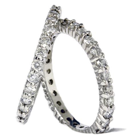 2ct eternity stackable wedding rings set 14k white
