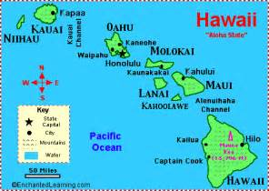 usa map hawaii state hawaii facts map and state symbols enchantedlearning