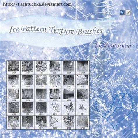snow pattern brush 30 excellent snow flake and ice brushes for photoshop