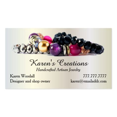 business cards for jewelry jewelry or jewellery designer maker business card