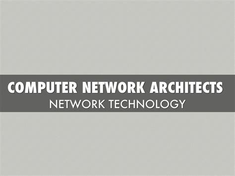 Computer Network Architect by Computer Network Architect Alex S By Alex