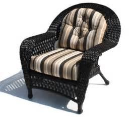 Soho Backyard Outdoor Wicker Chair Montauk Shown In Black Tropical