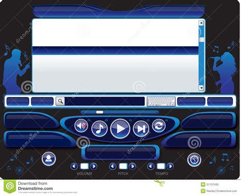 audio karaoke player template 03 royalty free stock