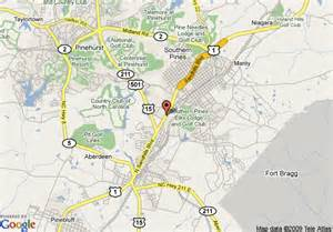 map of microtel inn southern pines southern pines