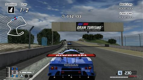 nissan gran turismo racing gran turismo 4 nissan r390 gt1 race car 98 cockpit view