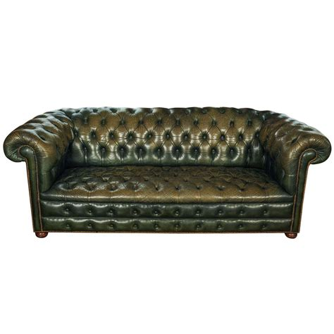 Green Leather Chesterfield Sofa X Jpg