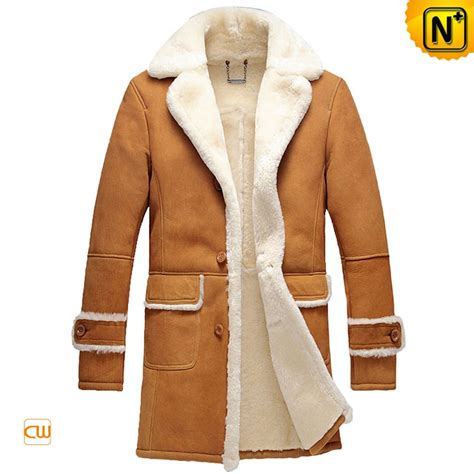 Trench Coat Tanpa Inner Bahan Suede Fit L Ld100cm Pjg 72cm 104rb sheepskin leather shearling coat for cw878604