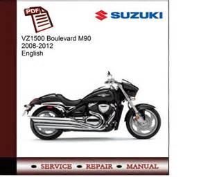 Suzuki 2012 Owners Manual Suzuki Vz1500 Boulevard M90 2008 2012 Service Manual