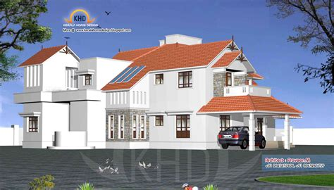 home 3d model indian modern house