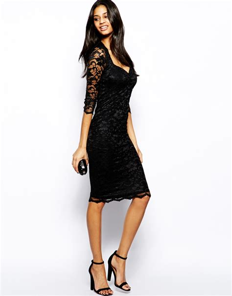 Dress Lace Import 1 zack lace midi dress with sweetheart neckline in