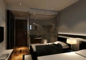 modern style hotel room with bathroom 3d house free 3d