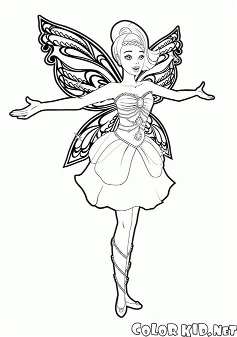 barbie butterfly coloring pages coloring page fairy butterfly and dances