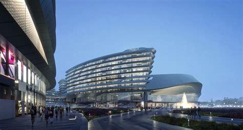 Resort Hotel Floor Plan aedas leaf shaped sales gallery nears completion in