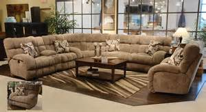catnapper siesta lay flat reclining 3 pc sectional sofa