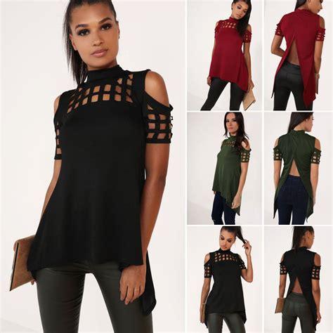 Fashions Import Ww31069 Blouse Black Khaki Green fashion summer top sleeve blouse casual tops t shirt ebay