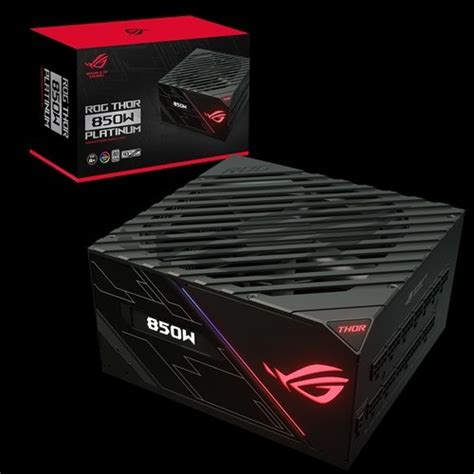 asus rog thor 850p 850w platinum power supply with aura sync oled rm gear