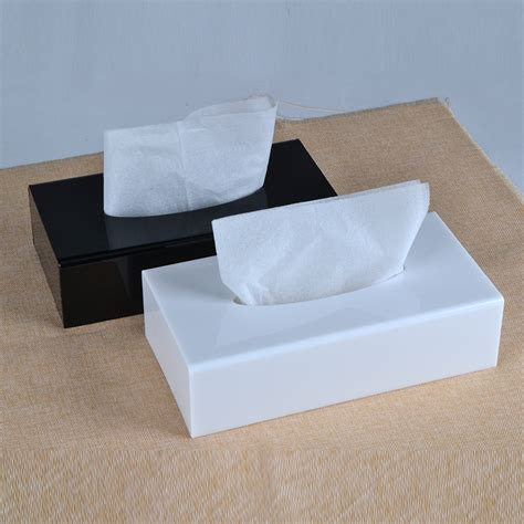 Pre Order Box Tissue Acrylic modern acrylic tissue box tissue holder tissue dispenser tb005 in tissue boxes from home