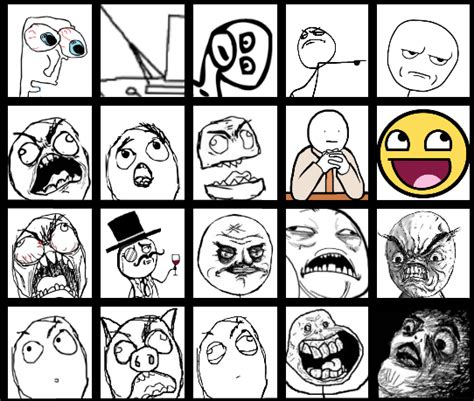 List Of All Memes - the periodic table of memes rage faces humor meme
