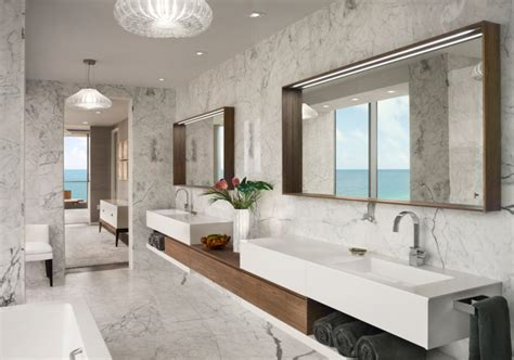 Bathroom Mirrors Miami A Jaw Dropping Oceanfront Penthouse In Miami Design Milk