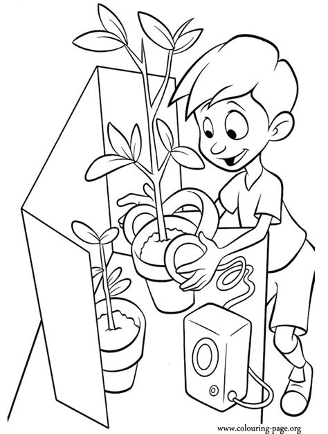 science coloring pages pdf meet the robinsons student in the science fair coloring