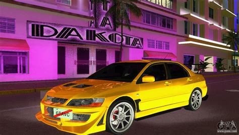 mitsubishi gta mitsubishi lancer evolution viii type 8 for gta vice city