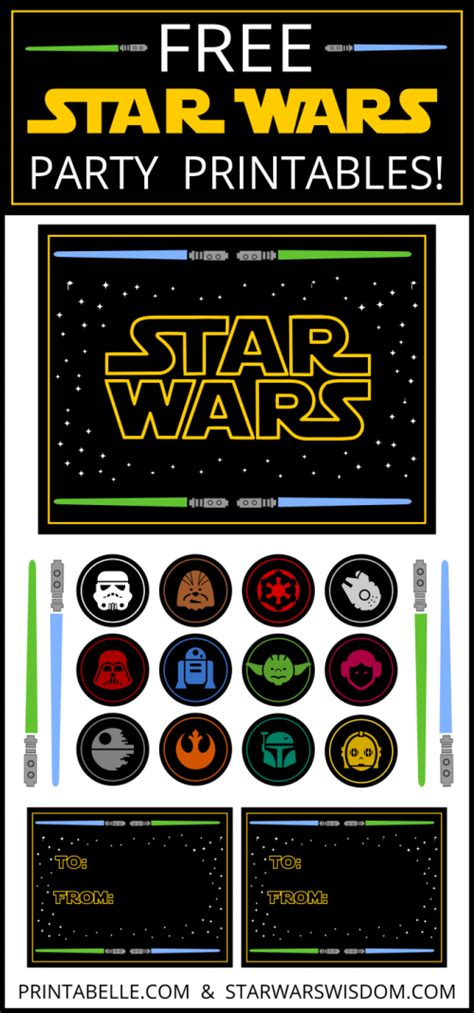 printable decorations star wars star wars party ideas printables more free party