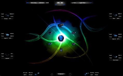 alienware themes for windows 7 green alienware breed rainmeter theme