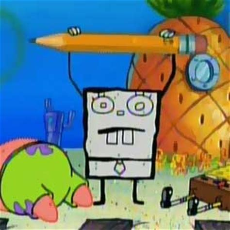 spongebob musical doodle episode name file doodlebob pencil jpg from spongepedia the