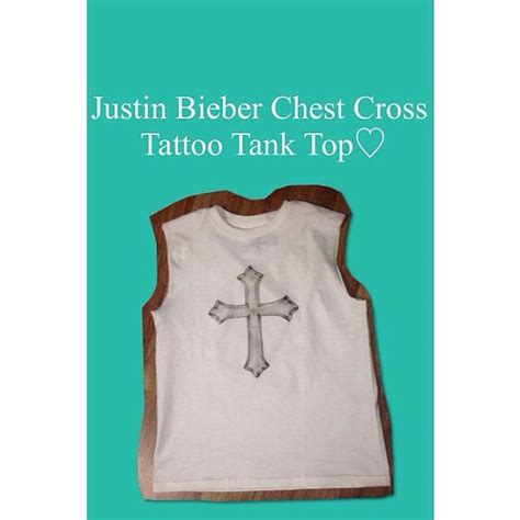 justin bieber tattoo shirt justin bieber cross tank top on etsy 25 00
