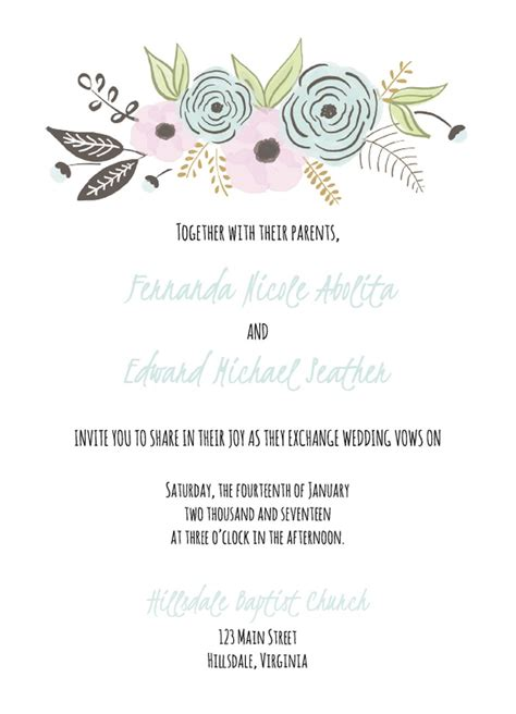 wedding invitation templates   customize