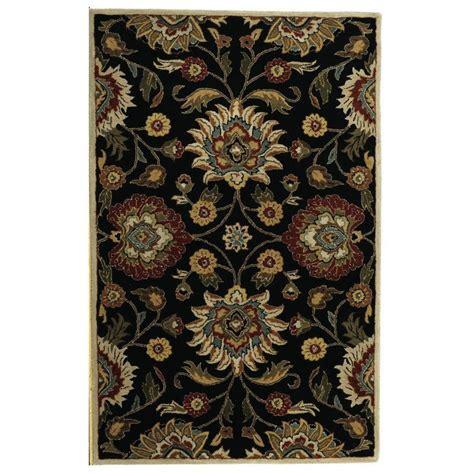 echelon area rug home decorators collection echelon black 2 ft x 3 ft area rug 8784710210 the home depot