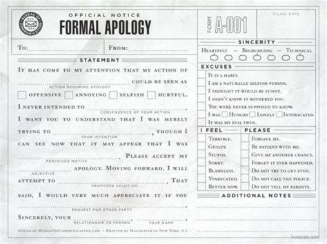 Apology Letter Joke 39 best humor funniest thing images on
