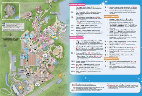 map of studios photo new disney s studios guide map updated with center stage addition