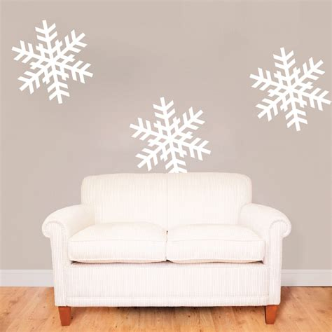 Wall Sticker Snowflakes snowflake wall decals roselawnlutheran
