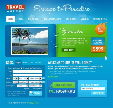 Travel Agency Html Template travel agency website template 19831