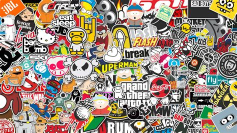 hoonigan sticker bomb jdm iphone wallpaper image 462