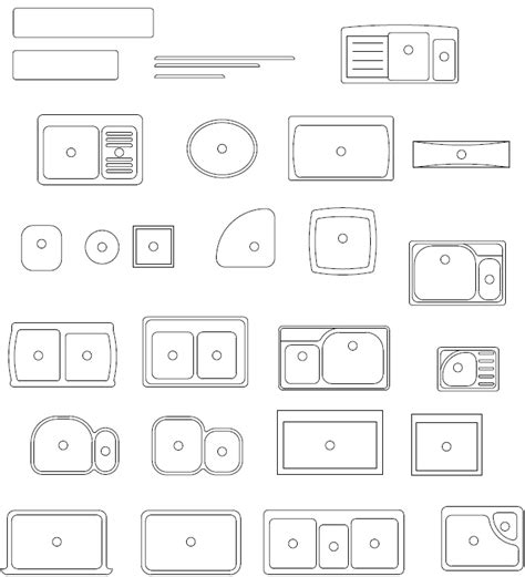 kitchen sink cad block plan on pinterest autocad symbols and small house floor