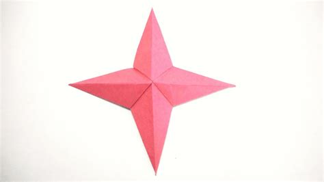 Origami 4 Point - how to make a 4 pointed