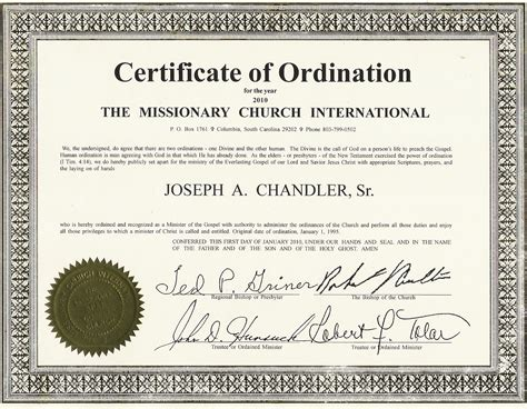 ordination certificate templates budget template free
