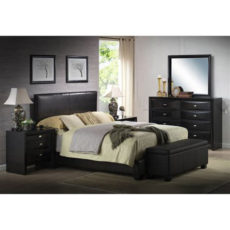White Bedroom Furniture Ireland Ireland Faux Leather Bed Black Walmart