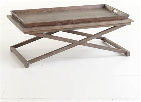 Coffee Table Tray Oak Tray Coffee Table Traditional Coffee Tables Dallas By Wisteria