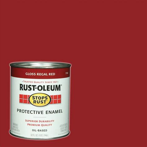 rust oleum stops rust 1 qt regal gloss protective enamel paint of 2 7765502 the